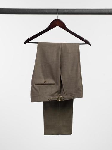Pantalon Pantalon brun tabac en laine