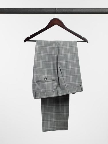 Pantalon Pantalon gris à carreaux en laine