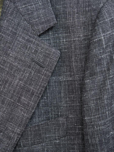 Jacket Dark Grey Wool-Linen-Silk Blend Sports Jacket