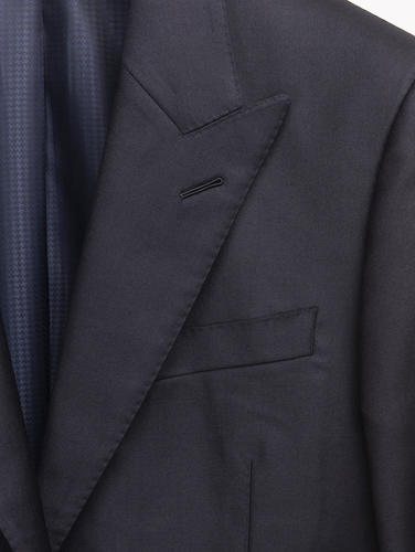 3-piece suit Midnight Blue Worsted Wool 3-Piece Suit