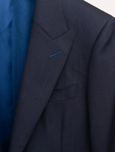 Suit Dark Blue Pinstripe Wool Suit