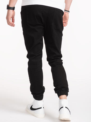 Jeans Relaxed Fit Black Denim Joggers