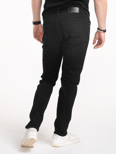 Jeans Custom Fit Black Denim Jeans