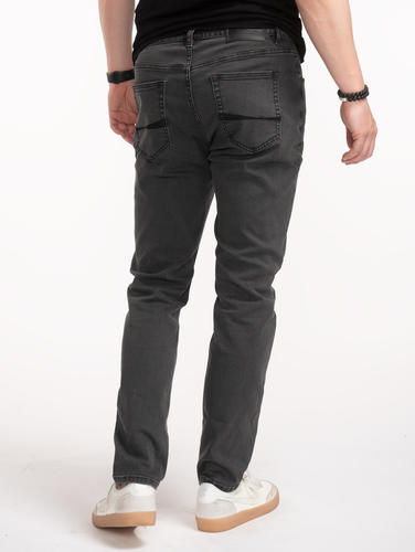 Jeans Custom Fit Grey Denim Jeans