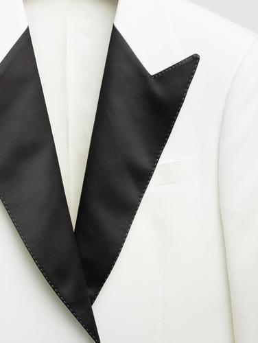 Veston Veston tuxedo crème en laine