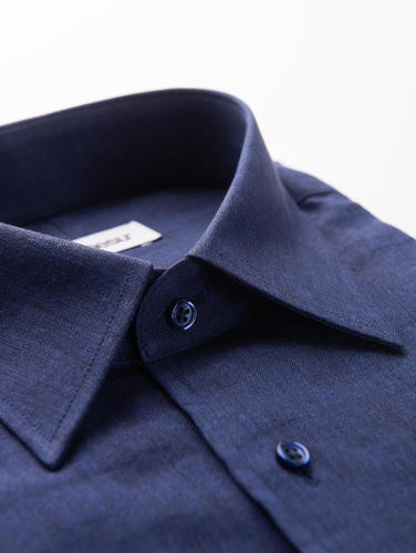 Sport shirt Indigo Blue Linen Shirt