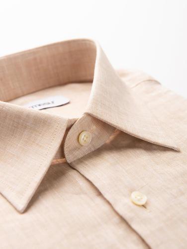 Sport shirt Beige Linen Shirt