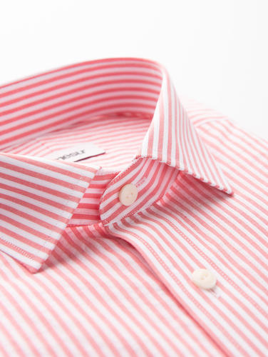 Sport shirt Red and White Striped Cotton Shirt