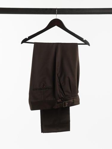 CHINO Brown Cotton Chinos w/ Gurka Belt