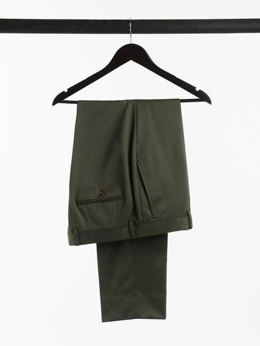 CHINO Dark Green Cotton Chinos