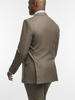 Suit Tobacco Brown Sharkskin Wool Suit