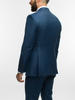 3-piece suit Oil Blue Plain Wool 3-Piece Suit