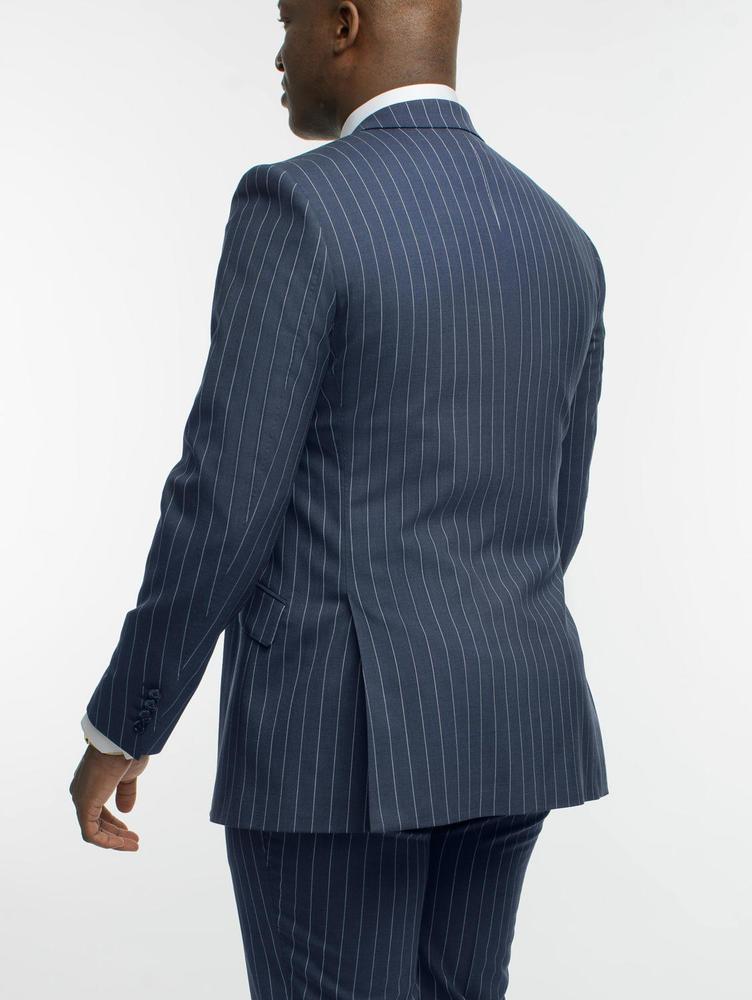 3-piece suit Navy Chalkstripe Wool 3-Piece Suit