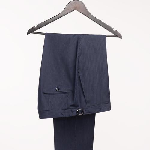 SUIT Dark Blue Pinstripe Wool Suit