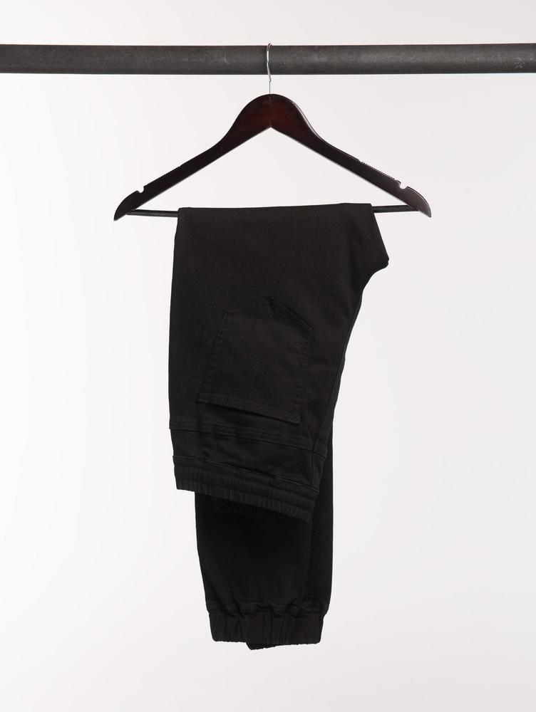 Jeans Jeans joggers noirs à coupe décontractée