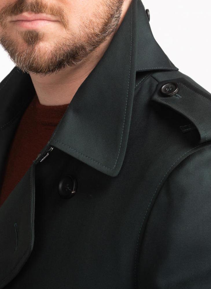 Trench-coat Trench-coat vert en laine