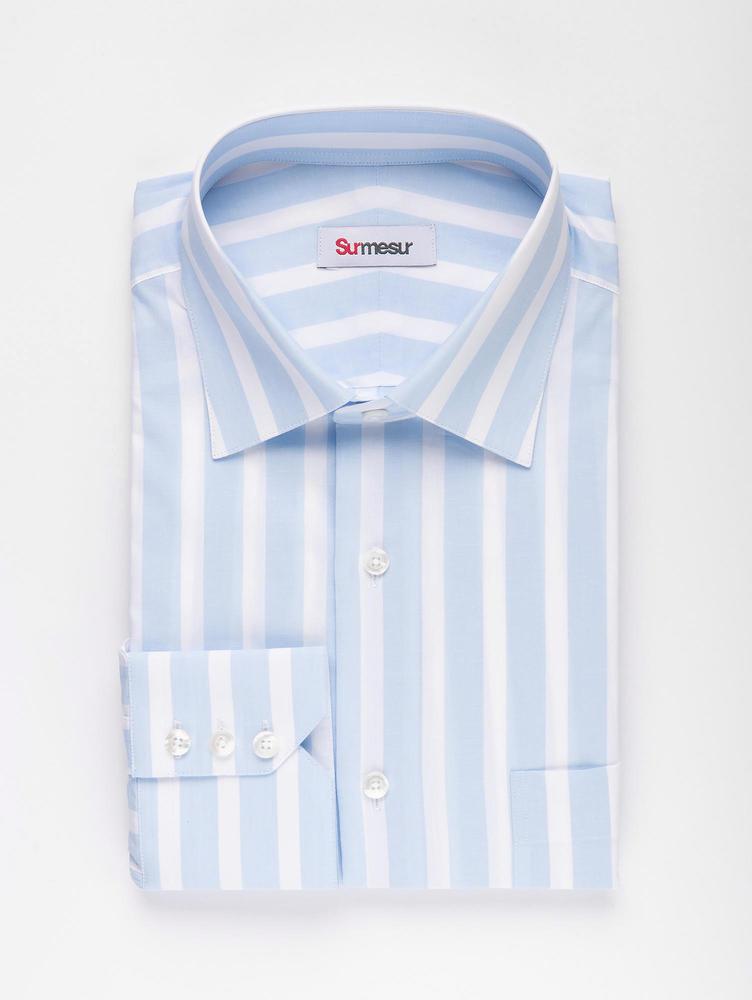 DRESS SHIRT Blue and White Striped Shirt