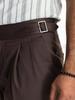 CHINO Chino brun en coton avec ceinture Gurka