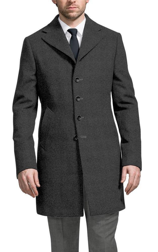 Overcoat Grey Wool/Cashmere Blend