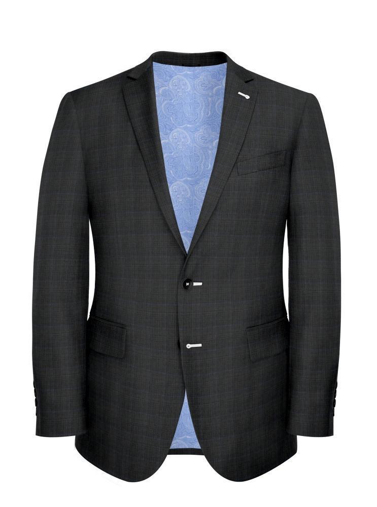Suit Grey Glen w/ Sky Blue Overcheck - Lucio