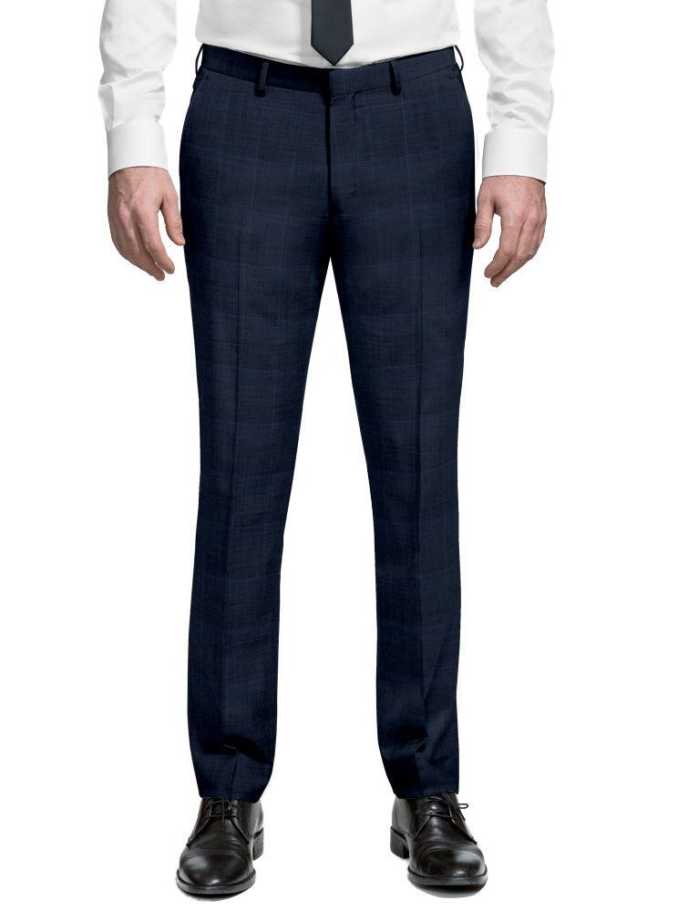 Trousers Blue Windowpane - Lucio