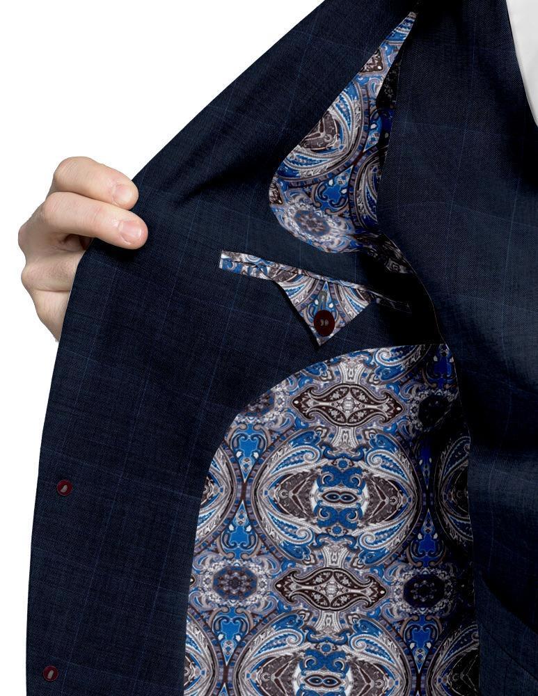 Jacket Blue Windowpane - Lucio