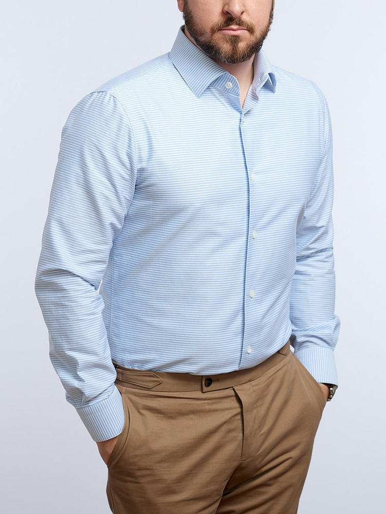 Chemise habillée Chemise à rayures bleues horizontales