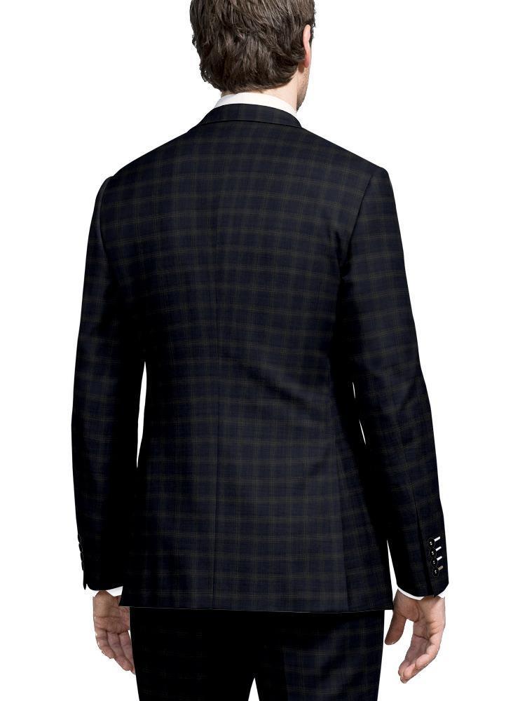 Jacket Blue w/ Large Beige Checks - Lucio