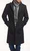 Manteau Manteau Noir en laine et cachemire - Azurin +