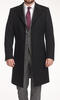 Overcoat Black Wool/Cashmere Blend Coat - Azurin +