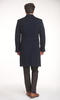 Overcoat Navy Double-Breasted Coat - Azurin +