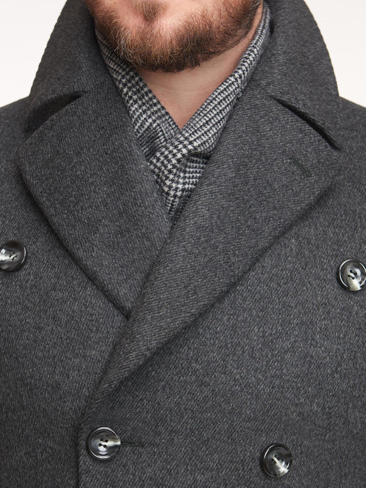 Overcoat Grey Double-Breasted Ulster Coat