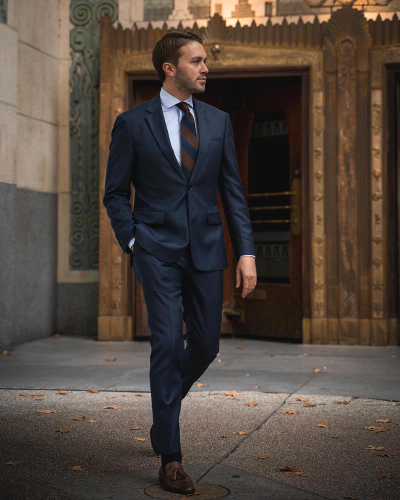 Suit Petrol Blue Suit