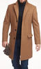Overcoat Camel Wool/Cashmere Blend Coat