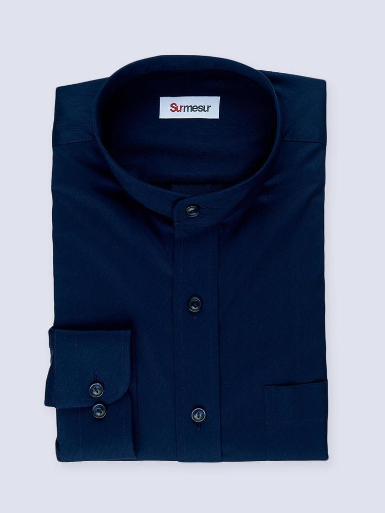 Dress shirt Navy with mao collar - Tenamo