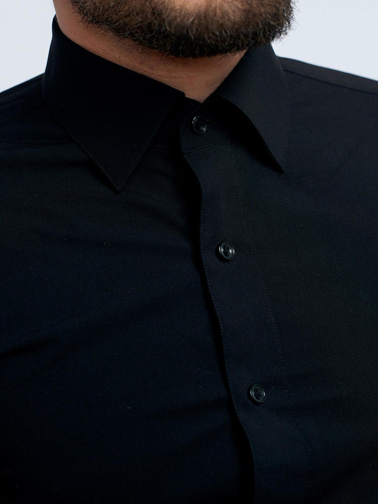 Dress shirt Black Bamboo Blend Dress Shirt