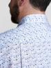 Chemise sport Bleue fleurie avec contraste - Walker
