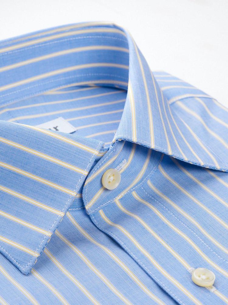Dress shirt Blue/Yellow Stripe - Inspiro