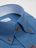 Sport shirt Blue Bamboo with contrast - Tenamo