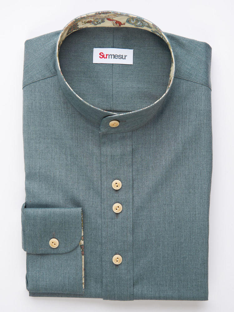 Sport shirt Green bamboo Sport Shirt with contrast