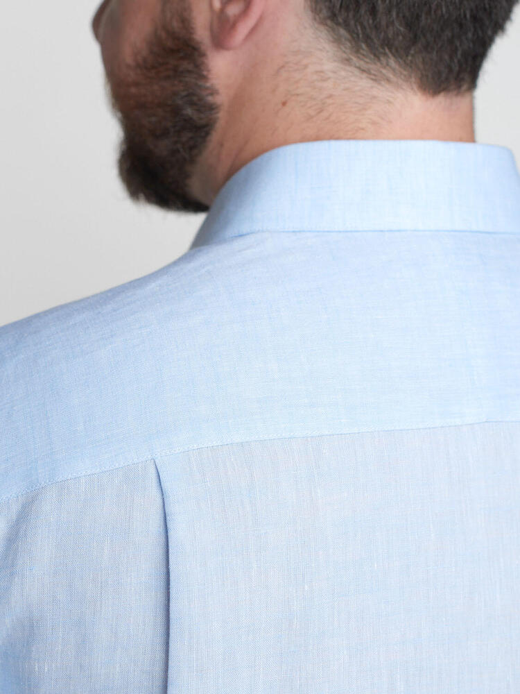 Dress shirt Light Blue Linen - Scarlett
