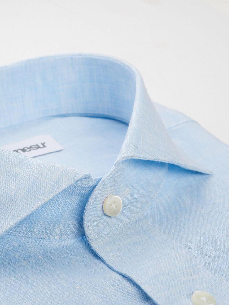 Chemise habillée Lin bleu pâle - Scarlett