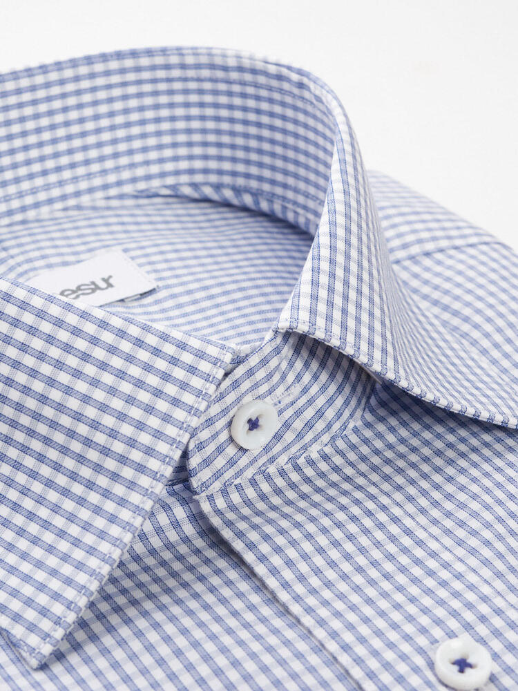 Dress shirt Small Blue Checks - Penelope