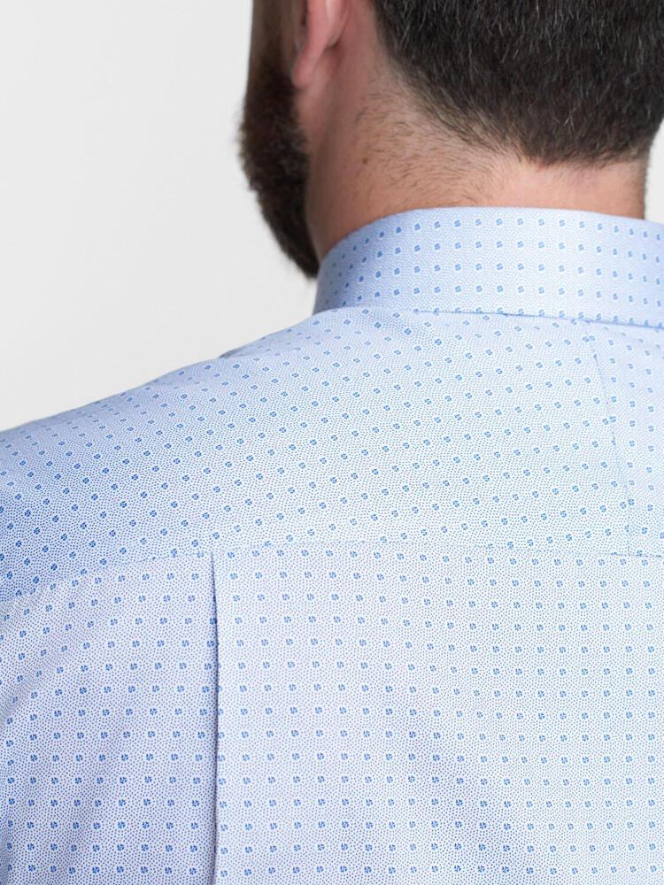 Sport shirt Light Blue Print w/ Contrast - Walker