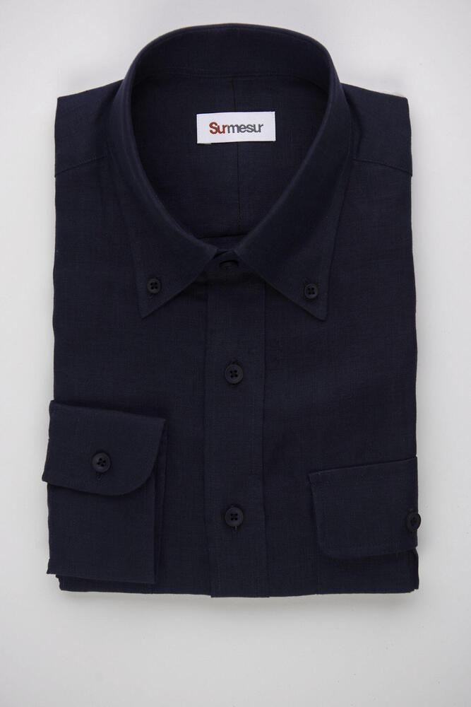 Sport shirt Navy Linen Sport Shirt