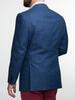 Veston Veston à carreaux bleus en mélange de laine, lin et soie