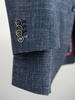 Jacket Dark Blue Wool-Linen Blend - Oscar +