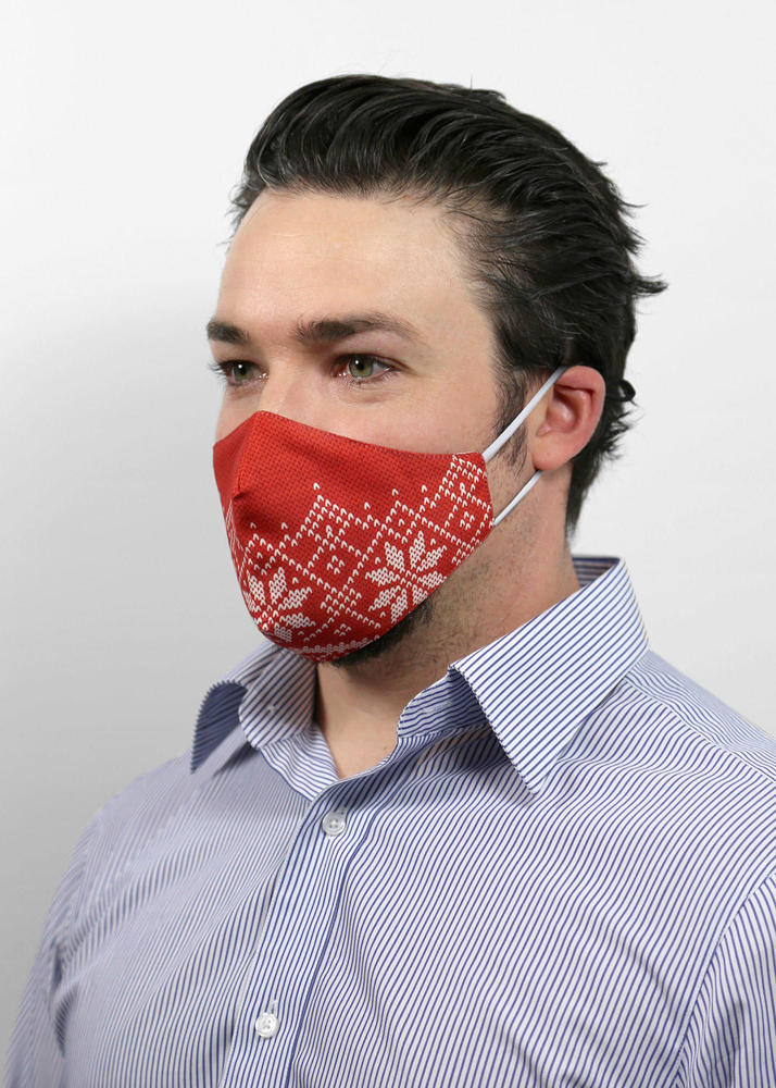 Reusable Face Protection Holiday Face Mask - Merry Red