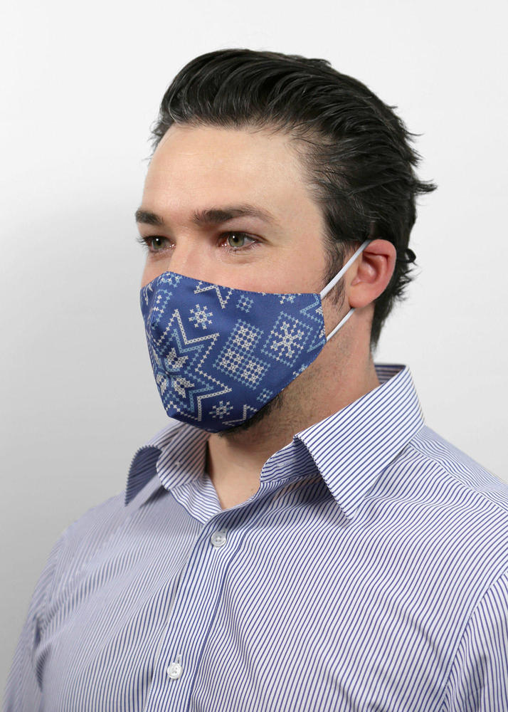 Reusable Face Protection Holiday Face Mask -  Jolly Blue