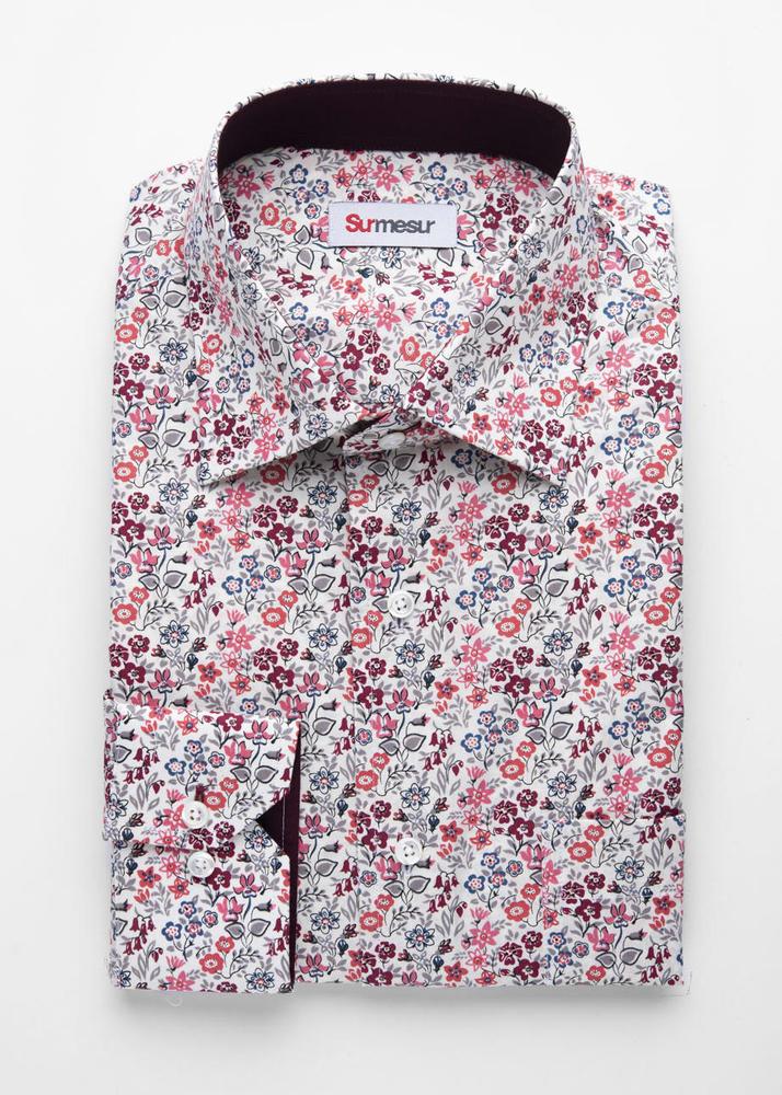 Sport shirt Pink/Grey Floral Print Sport Shirt